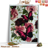 Regal Butterfly And Flower - Diamond Painting Kit