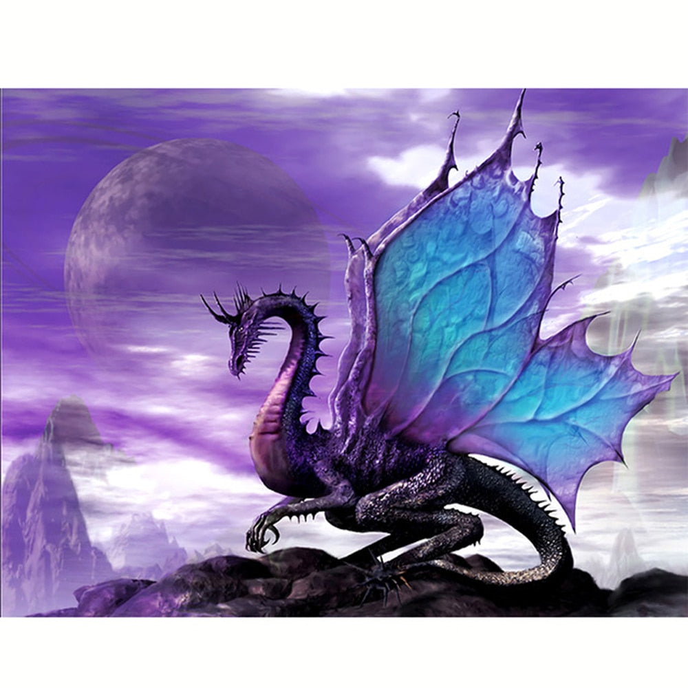 Purple Dragon - Diamond Painting Kit