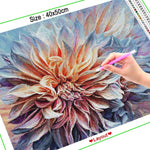 Ethereal Dahlia Flower - Diamond Painting Kit