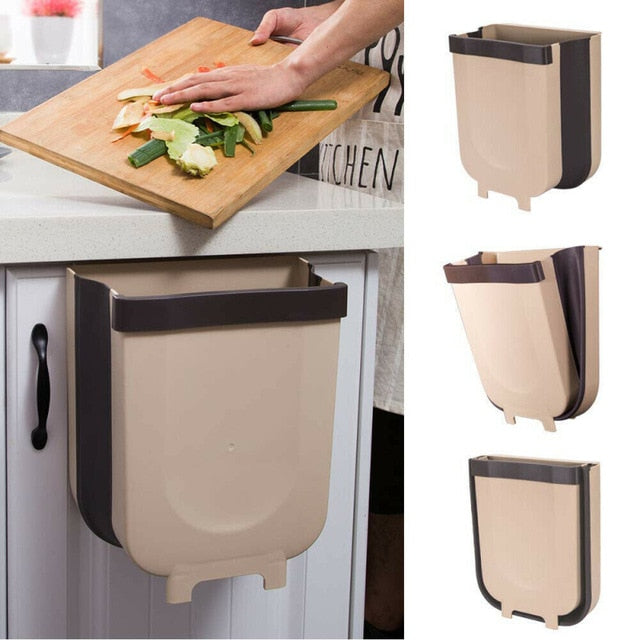 Wall Mounted Folding Garbage Bin