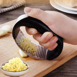 Curved Garlic Press Grinder