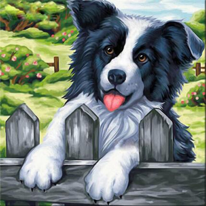 Happy Shepherd Puppy - Diamond Painting Kit
