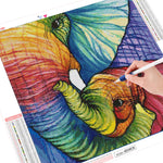 Rainbow Elephant - Diamond Painting Kit
