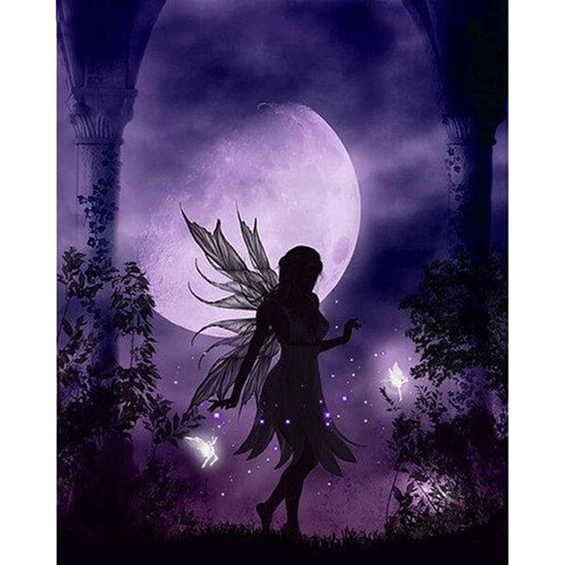 Moon Butterfly Fairy - Diamond Painting Kit