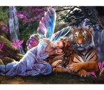 Butterfly Fairy Tiger - Diamond Painting Kit