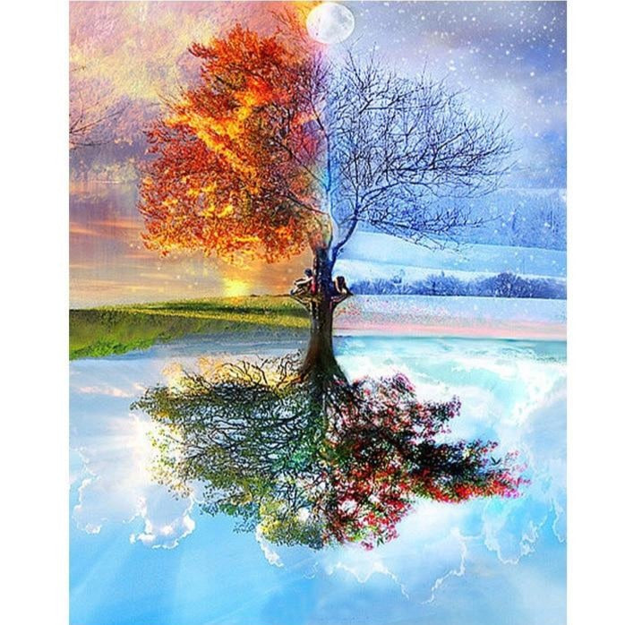 Fire & Ice Tree Paint By Number Kit