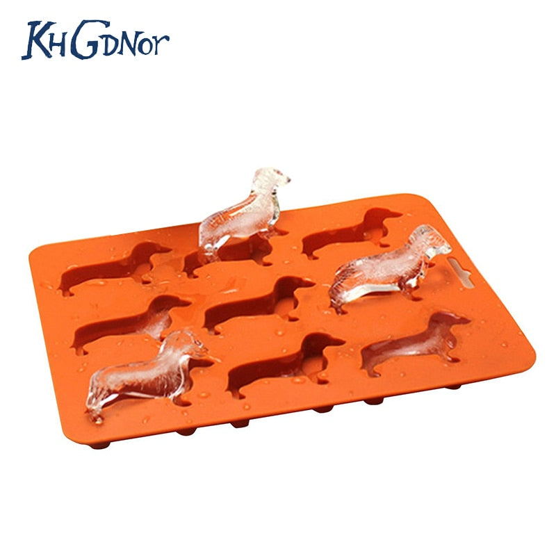 2-In-1 Dog Shaped Ice Cube Tray + Cookie Mold