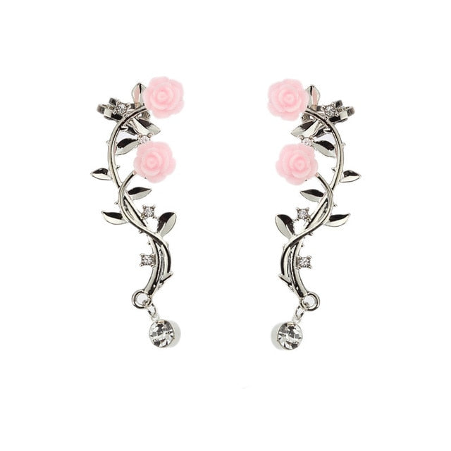 Ivy -  Creeping Flower Earrings