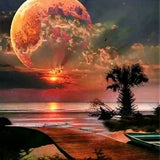 Beach Moon - Diamond Painting Kit