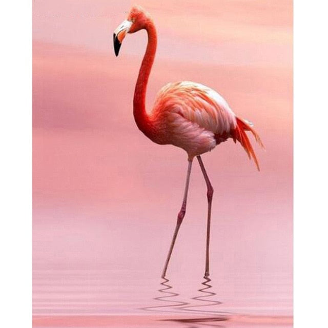 Beautiful Flamingo - Diamond Painting Kit