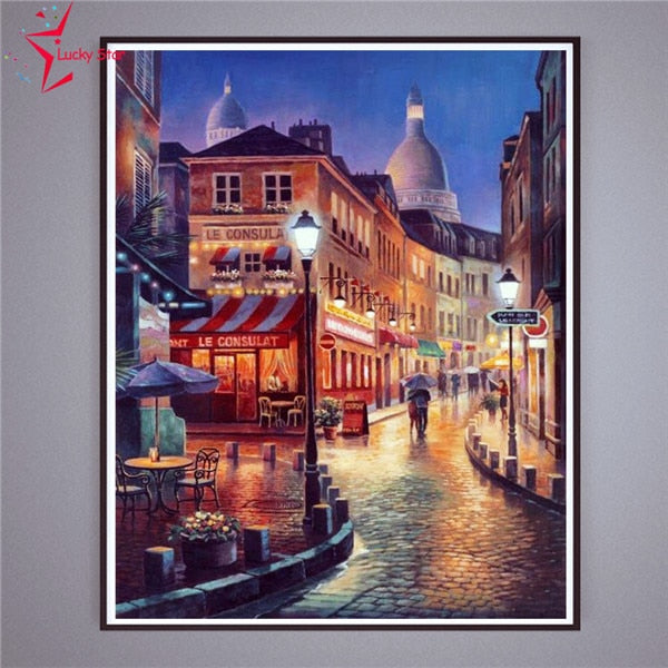 Cafe Street - Diamond Painting Kit