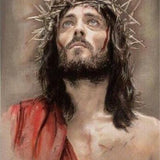 Jesus Christ With Thorn Crown - Diamond Painting Kit