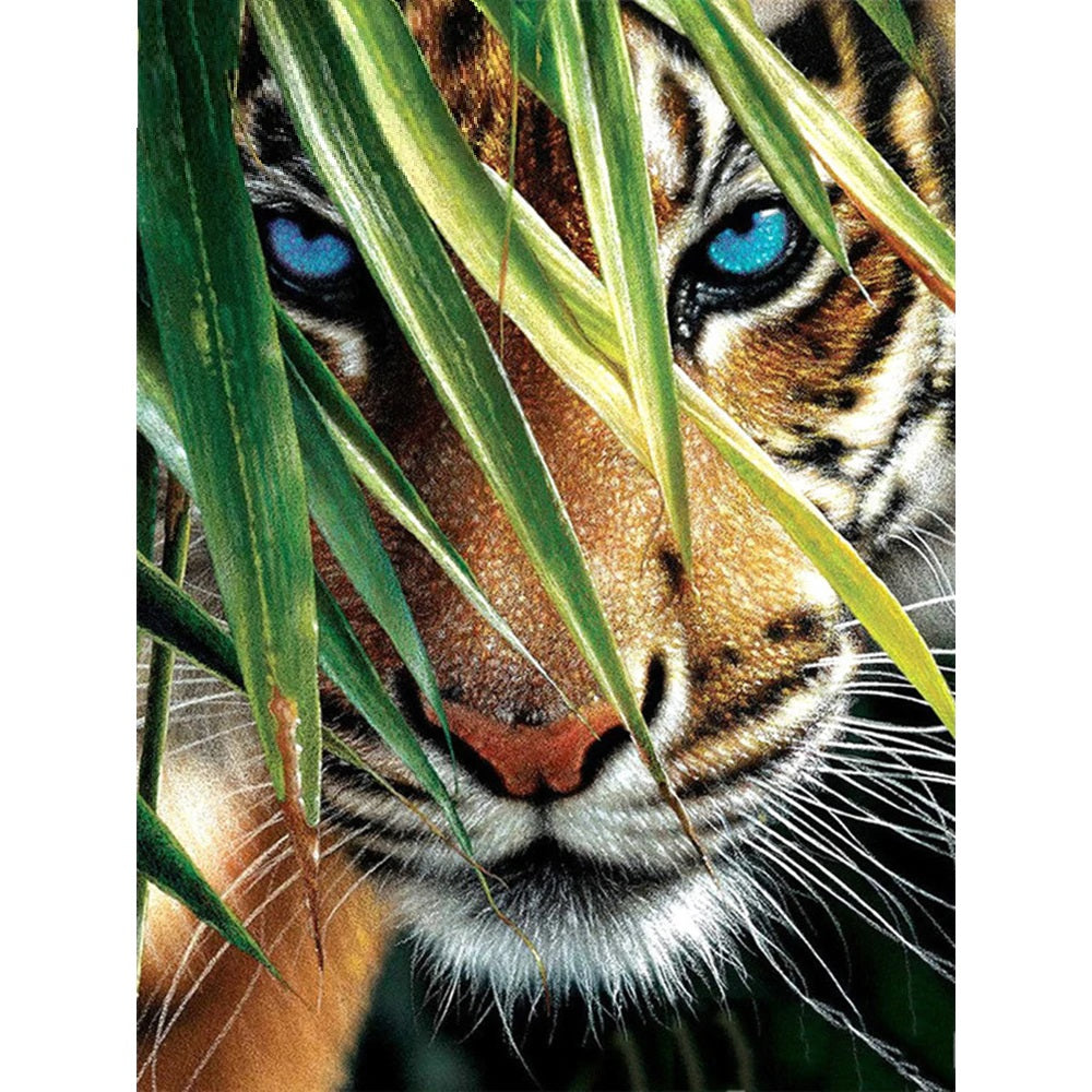 Tiger Leaves - Diamond Painting Kit