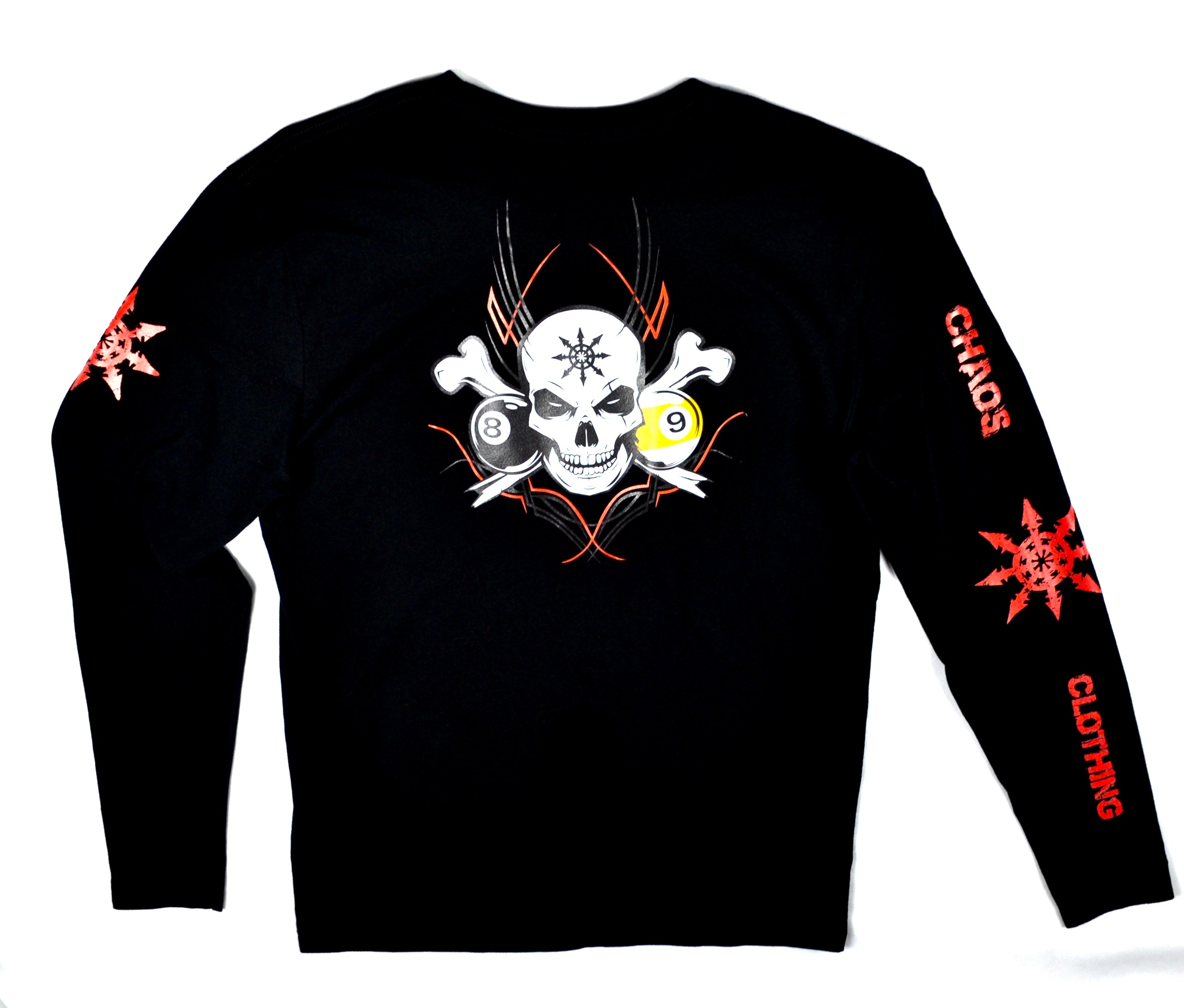 Men's Pool Skull Long Sleeve
