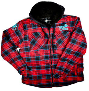 Men's Chaos Hooded Flannel Jacket