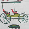 1900s Cheney Brothers Hand Sceen Print Carriages A Piece of Cloth Vintage Fabric