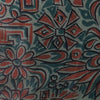 1950s Green Tiki Style Cotton Vintage Fabric