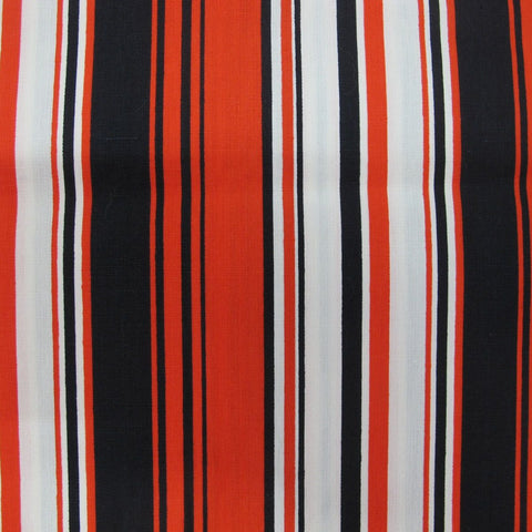 1960s Red White and Black Stripe Cotton