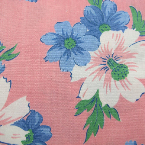 1930s Large Scale Cotton Floral in Pink