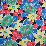 1940s Dry Rayon Floral Dress Length 3.6 mt / 3.9 Yd