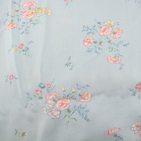 1930s Blue Floral Vintage Cotton Rayon Fabric