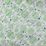 1920s Green Graphic Spots Cotton Rayon
