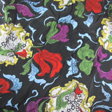 Stunning 1940s Cold Rayon Dress Length 3.6mt / 4 yards