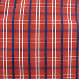 1960s Mod Red Cotton Check