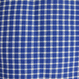 1960s Blue Cotton Check Twill Remnant
