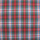 1960s Cotton Blend Check in Red Large Remnant