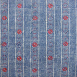 1960s Fancy Weave Spot Stripe Chambray