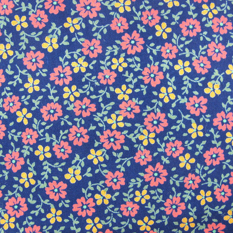 1970s Sweet Floral on Navy