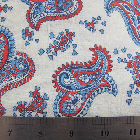 1960s Brushed Cotton Paisley