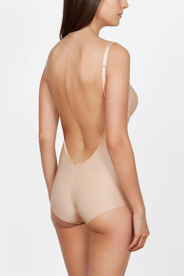 Skin-colored Body for backless Outfits with large Push-up Cups A-D