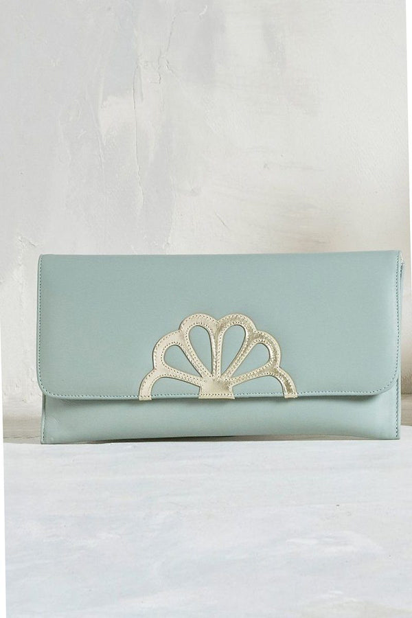 Braut Clutch in Mint und Gold - Iona