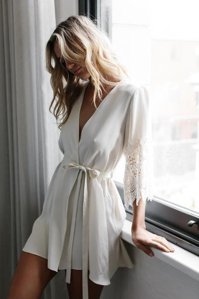 Braut Morgenmantel, Bridal Robe von Mae's Sunday - No. 1