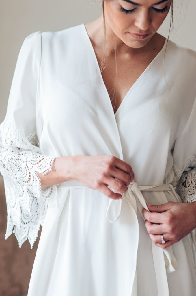 Braut Morgenmantel, Bridal Robe von Mae's Sunday- No. 1