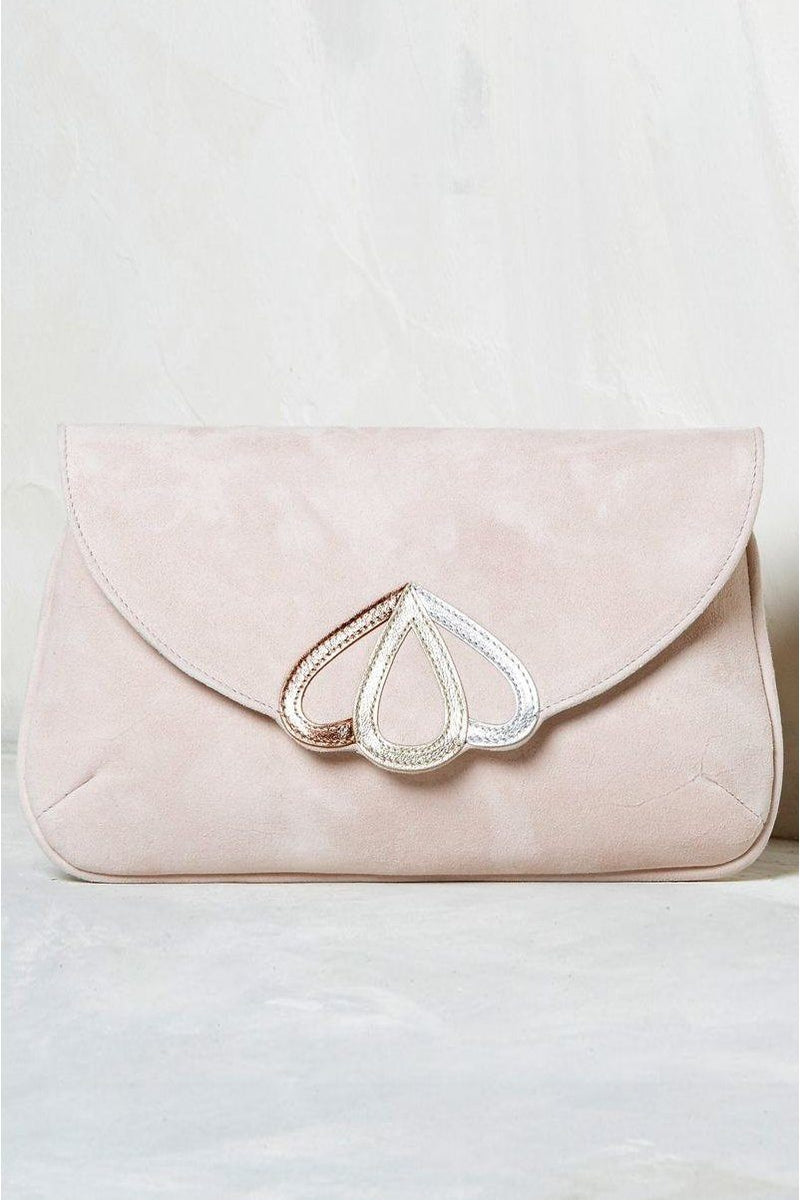 Bridal bag in blush with gold, silver and rosé - Opal