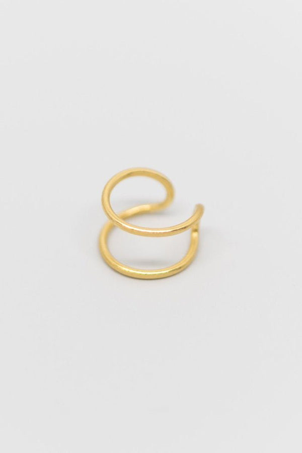 Minimalistische Ohrklemme in Silber, Gold oder Roségold - Tiny Double Earcuff