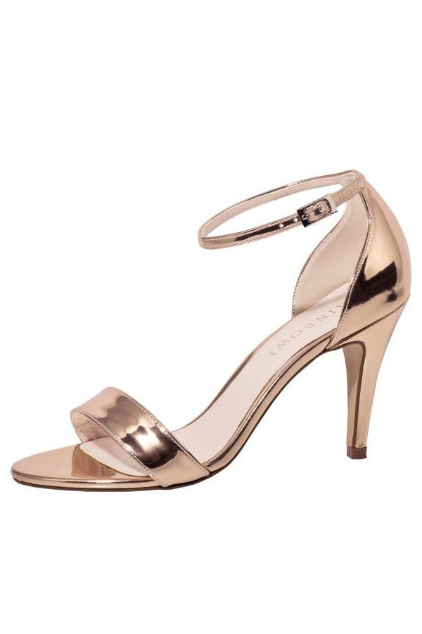 Brautpeeptoe in Metallic-Roségold von Rainbow Club - Dali