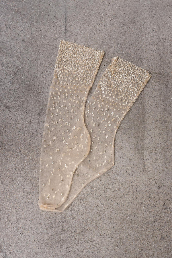 Glitzer-Socken in Gold - Shimmer