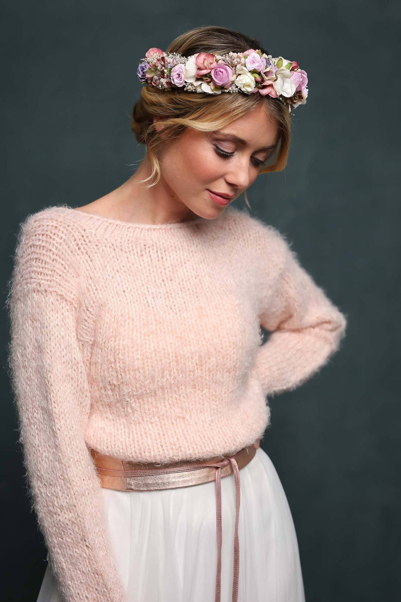 Kurzer Brautpullover in Rosa - Cosy Rosie Cropped