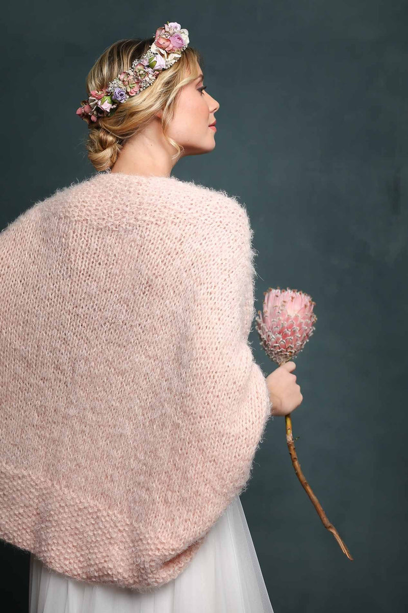 Kuschelige Brautjacke aus Strick in Rosé - Hold Me Now Medium