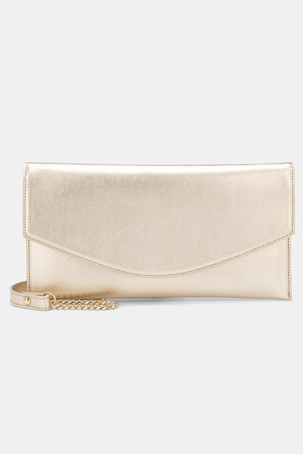 Clutch aus veganem Leder in Kuvert-Form - The Classic Gold