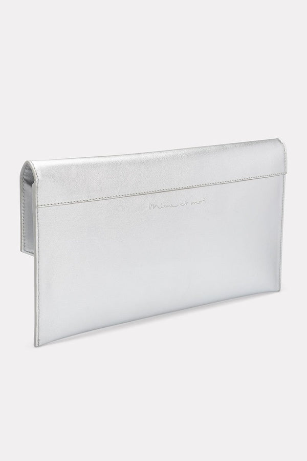 Metallic-Clutch in Envelope-Form - The Classic Silber