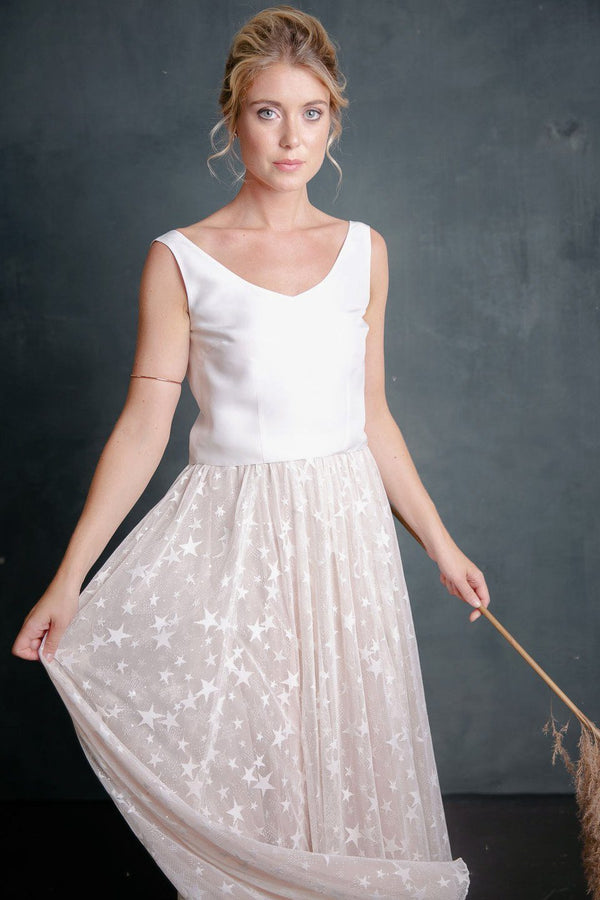 Tulle overskirt with stars and sequins - Stella