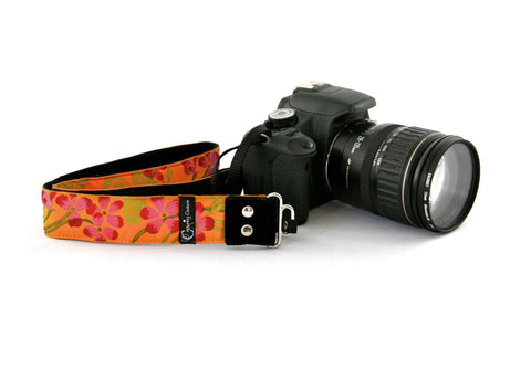 New Zealand Capturing Couture Hibiscus Sun camera strap