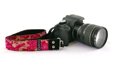 New Zealand Capturing Couture Pink Silk Lotus Passion camera straps