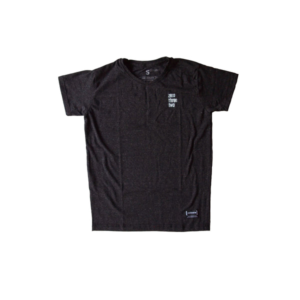 Zerothreetwo Crest Charcoal Men T-Shirt