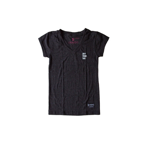 Zerothreetwo Crest Charcoal Women T-Shirt [PRE-ORDER]